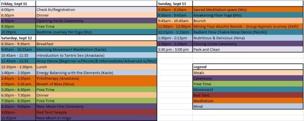 2015Aug25 Schedule